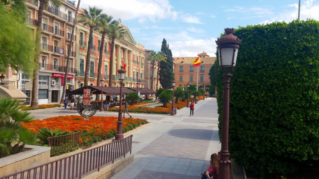 Glorieta de Espanha, um belo retrato de Murcia